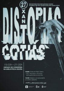 O artista gráfico Leo Sousa é o autor do cartaz e a imaxe do ciclo Distopías Cotiás